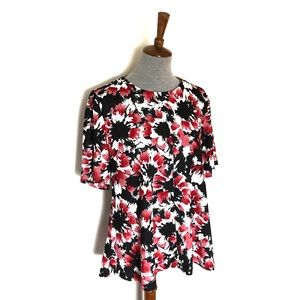 NWT the limited - floral keyhole blouse
